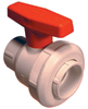 "1"" Single Entry Ball Valve PVC/Buna-N White Soc"