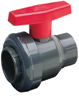 "1"" Single Entry Ball Valve PVC/EPDM Gray Thd"