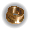 "1/2"" ChemAire Ball Valve End Connectors Brass FPT"