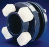 "1"" Dbl Flanged Fitting PVC-EPDM Encapsulated"
