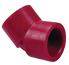 "4"" 45° Elbow Sch 80 Red Kynar® PVDF Soc"