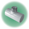 "1/2"" Tee Sch 40 White PVC Soc x SR FPT SS Rein. - Click Image to Close"