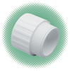 "4"" Male Adapter Sch 40 White PVC Soc x MPT"