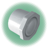 "1-1/4"" x 1"" Red. Bushing Sch 40 White PVC Spg x FPT"