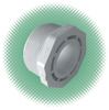 "1"" x 3/4"" Red. Bushing Sch 40 White PVC MPT x FPT"