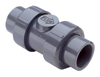 "1-1/4"" TU 2000 Ball Check Valve PVC/Viton® Soc/Thd"