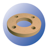 "4"" Flange Backing Ring PP Coated Steel - 0"