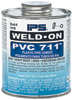 Pint IPS Weld-On PVC 711™ Cement Dark Gray