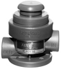 "1"" Foot-Operated Valve PP/Viton® Thd"
