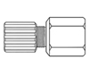 "3/4"" x 1/2"" EM Technik PFA Female Str Connector FL x MPT"