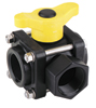 "1"" Side Load 3-Way Ball Valve, 1"" Thru, 100 PSI"