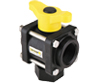 Banjo® PP Bottom Load 3-Way Ball Valve