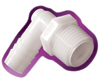 Nylon Insert x MPT 90° Elbow Adapters