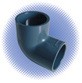 PVC Sch 80 90° Elbow - Soc x Soc