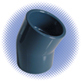 PVC Sch 80 22-1/2° Elbow - Soc x Soc